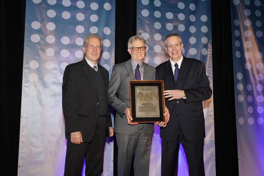 (L to R): Mark B. Snyder, Michael I. Darter and Gerald F. Voigt share a moment after Darter was presented with ACPA's 2017 Hartmann-Hirschman-Egan Award.  The award is ACPA's highest order distinguished service award.