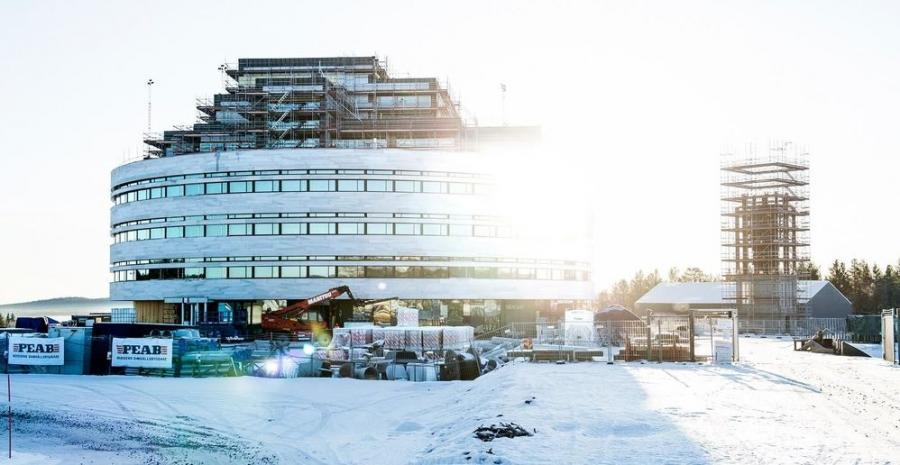 The new Kiruna City Hall in the making.