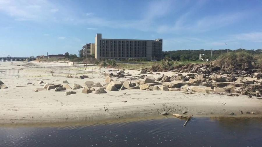 """The dunes were largely destroyed and totaled by Hurricane Matthew. He dealt the death blow, but prior storms had eaten away at those dunes,"" said Pat Dowling, a spokesman of the city of North Myrtle Beach."