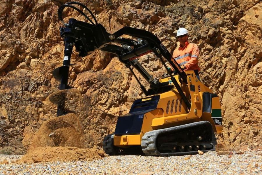 One of the most popular mini-skid steer attachments, according to RDO Vermeer and Vermeer Australia, is the auger.