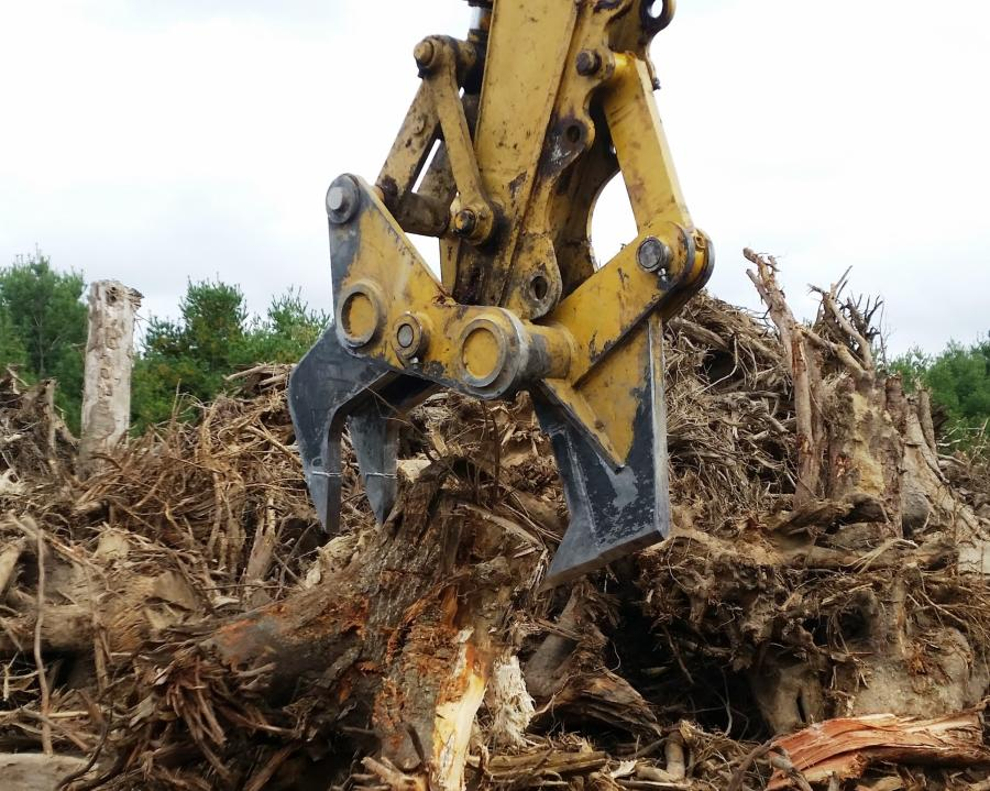 Jerry's Lawn and Tree invested in a Ransome stump harvester to process tree stumps of up to 35 in. in diameter while clearing out building lots in southern Delaware.