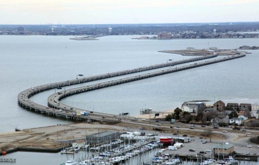The Hampton Roads Bridge-Tunnel (Ross Taylor/The Virginian-Pilot photo)