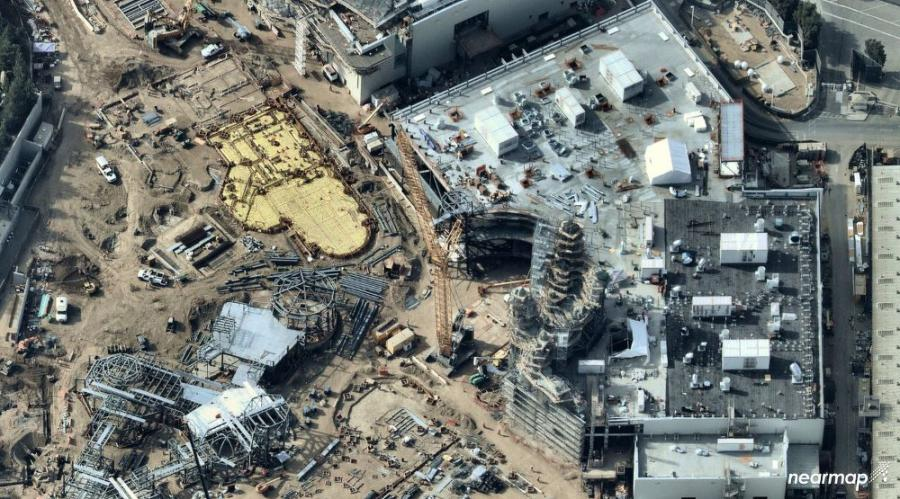 The Star Wars: Galaxy's Edge construction site.