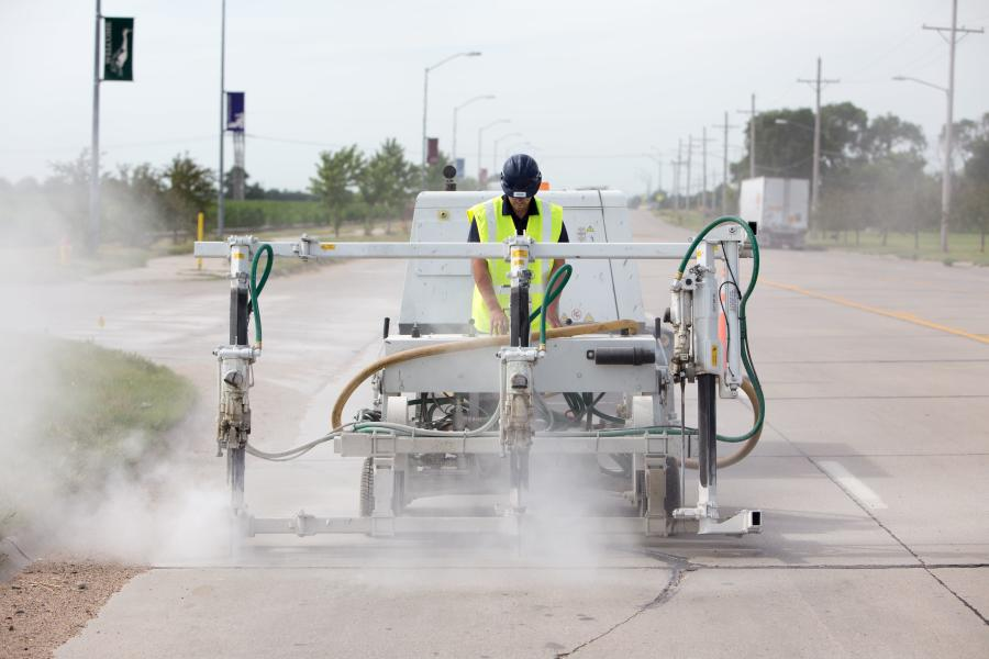 Thrasher was selected to repair a half-mile section of the key thoroughfare. An experienced concrete contractor serving Nebraska, western Iowa and northwest Missouri, Thrasher brought its unique Polylevel system to the $250,000 job.