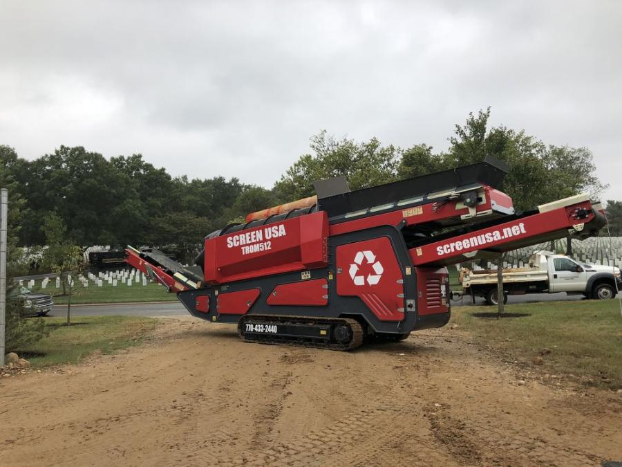 Arlington National Cemetery replaced its box screener with a Screen USA TROM512 track-mounted trommel screen.