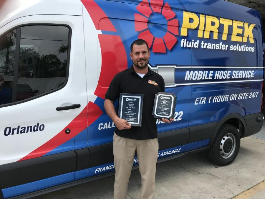 PIRTEK also recognized Alan Brummond of PIRTEK Orlando as a top performer for 2017.