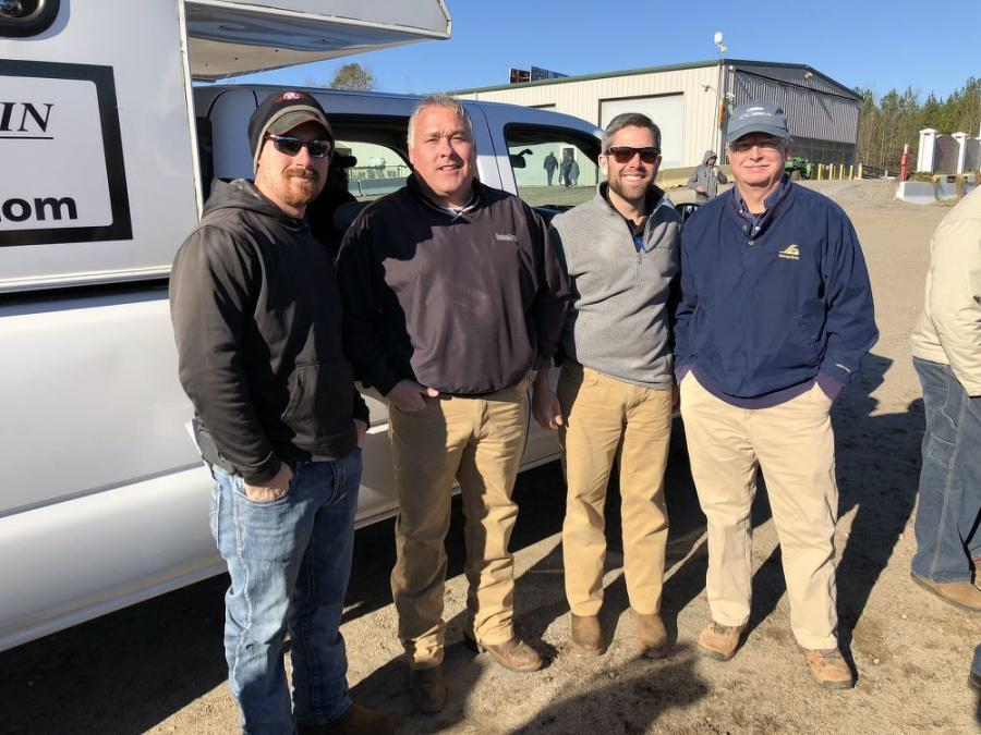 (L-R) are Brandon Holloway, Sherman Construction, Greenville, S.C.; Matt and Jared McGaffee, both of Martin & Martin Auctioneers; and Tom Davis, Enable Consulting.