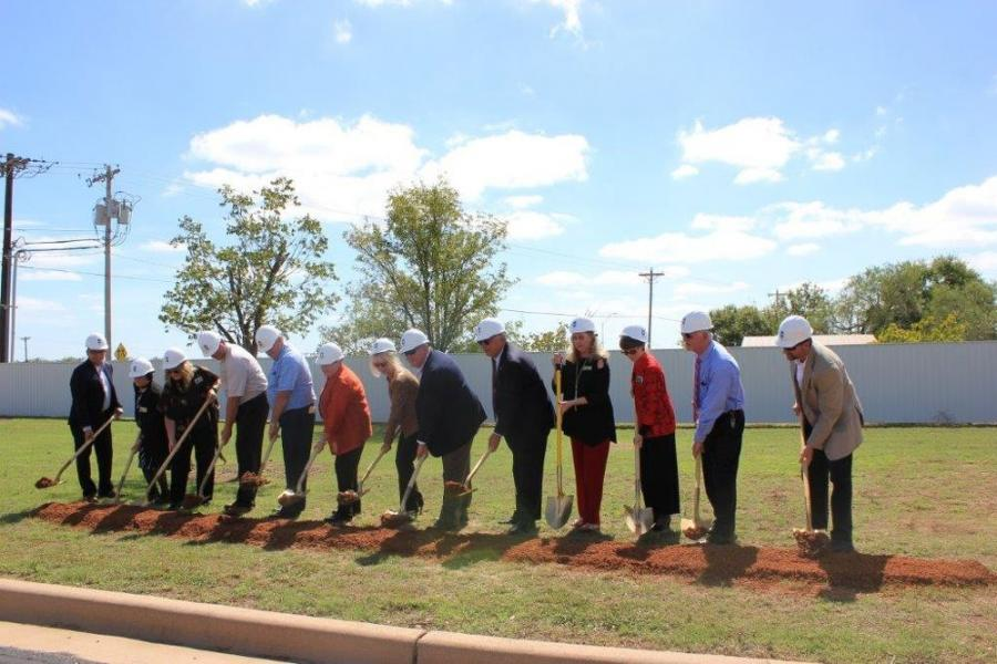 A groundbreaking ceremony for the Howard College-San Angelo Construction Trades Center of Excellence was held on Oct. 5, 2017.