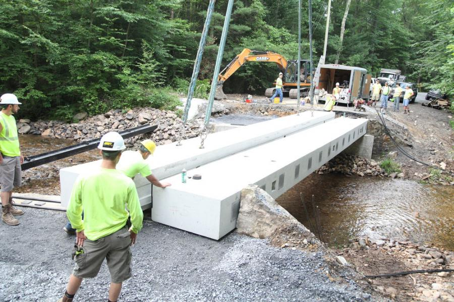 In 2017, the grant was awarded to Quincy Township, Pennsylvania, for use on replacement/repair work on the Old Forge Bridge — a deteriorating bridge in an important location that risked access to residents, as well as fire departments, ambulances, police, school busses and other essential components of the community.