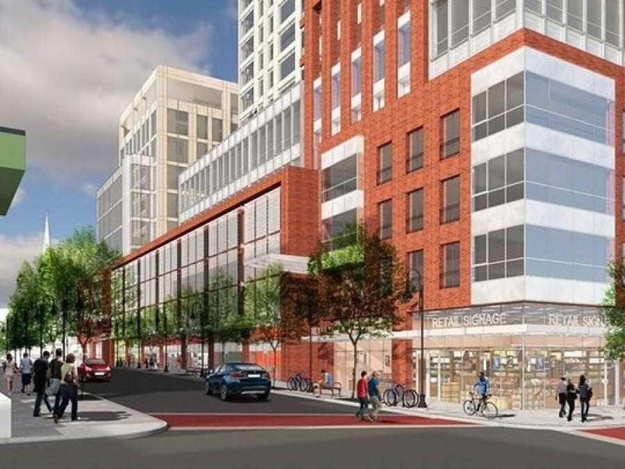 A rendering of the plans for Burlington City Place (Burlington Town Center photo)