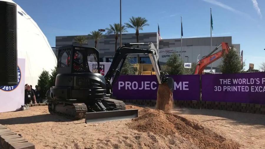 One of the biggest attractions at Con/Agg this year was the 3D printed excavator.