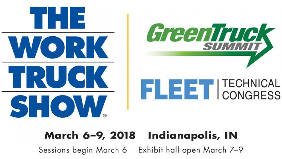 The Work Truck Show takes place March 6–9 at the Indiana Convention Center in Indianapolis. Educational sessions, Green Truck Summit and Fleet Technical Congress begin March 6, and the exhibit hall is open March 7–9.