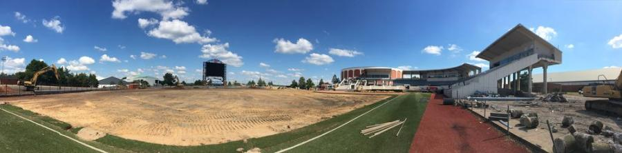 Even as construction continues on the new $55 million baseball stadium for Mississippi State University (MSU) in Starkville to rebuild the Dudy Noble Field — the homefield of the Bulldogs — the team has already held some practices inside the grounds of the new structure, which is being built by JESCO Inc.