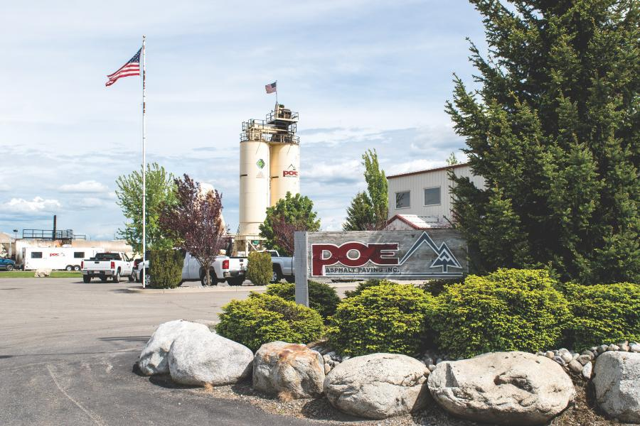 Poe Asphalt Paving has offices in Lewiston and Post Falls, Idaho, as well as in Pullman, Wash. In addition to asphalt plants at those sites, the company has another permanent facility in Grangeville, Idaho, and runs a portable operation.