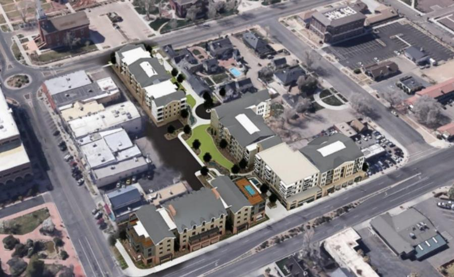 "The ""City View"" project is planned to include a four-story Boutique hotel, two four-story apartment buildings, retail shopping, restaurants and other commercial uses.