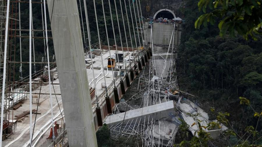 The bridge, about 1463 ft. long, was part of the main route between Bogota and Villavicencio, CNN reported.