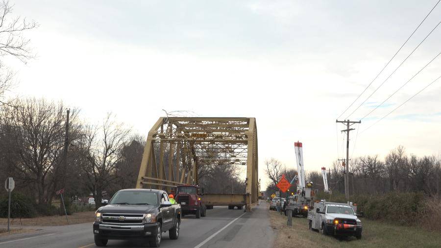 The bridge was built in 1940 and is a K-through-truss structure, a rather common bridge type in Oklahoma but very rare nationally. (ODOT photo)