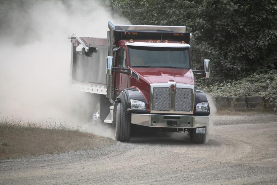 Kenworth will provide a $2,000 savings to fellow National Ready Mixed Concrete Association (NRMCA) members on qualifying purchases of new Kenworth T880, pictured here in a dump application, plus the Kenworth T880S, W900, T440 or T470 vocational trucks through the association's Member to Member (M2M) Benefits Program.