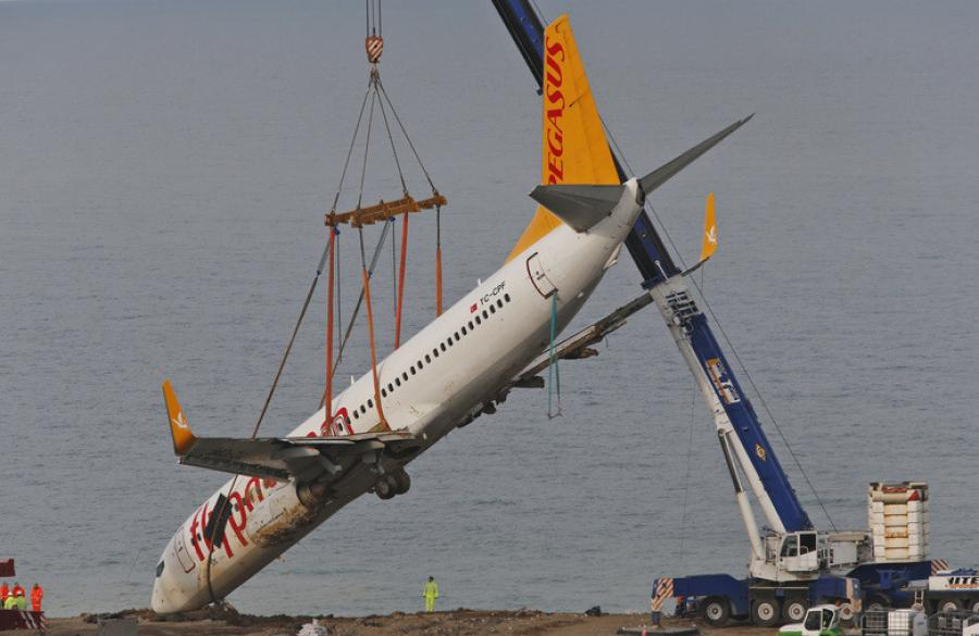 Turkish media said the pilots told investigators the plane's right engine experienced a sudden surge of speed that forced it to swerve to the left, toward the sea.