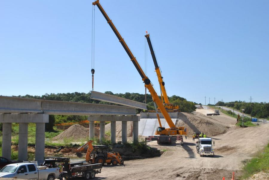 The new Georgetown Bridge at Jackson's Crossing, a $9.7 million highway bridge that has replaced a low-water crossing bridge, will open in Jan. 2018.