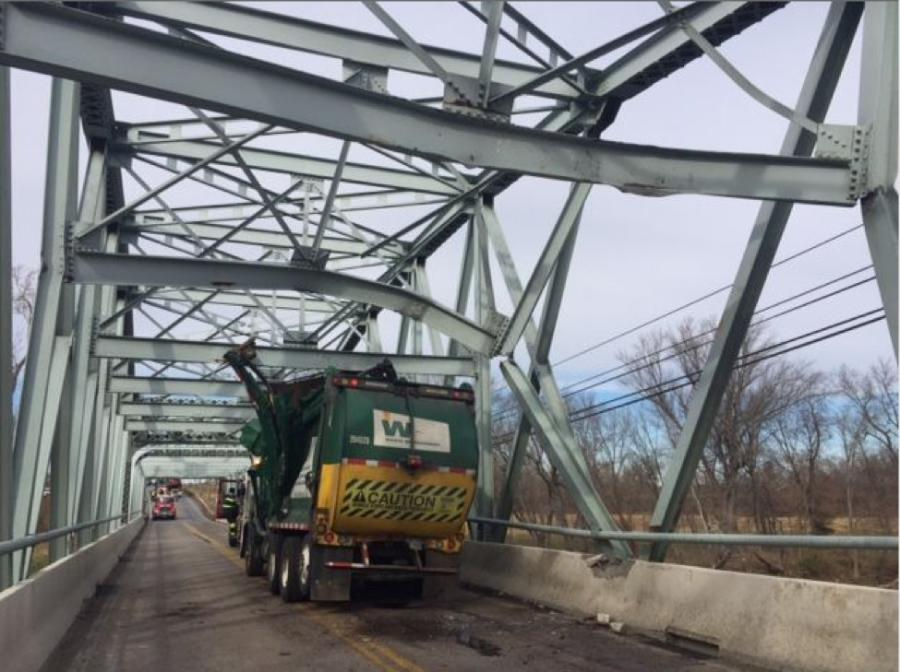 The MD 355 Bridge over the Monocacy River was closed after being struck Dec. 7, 2017.