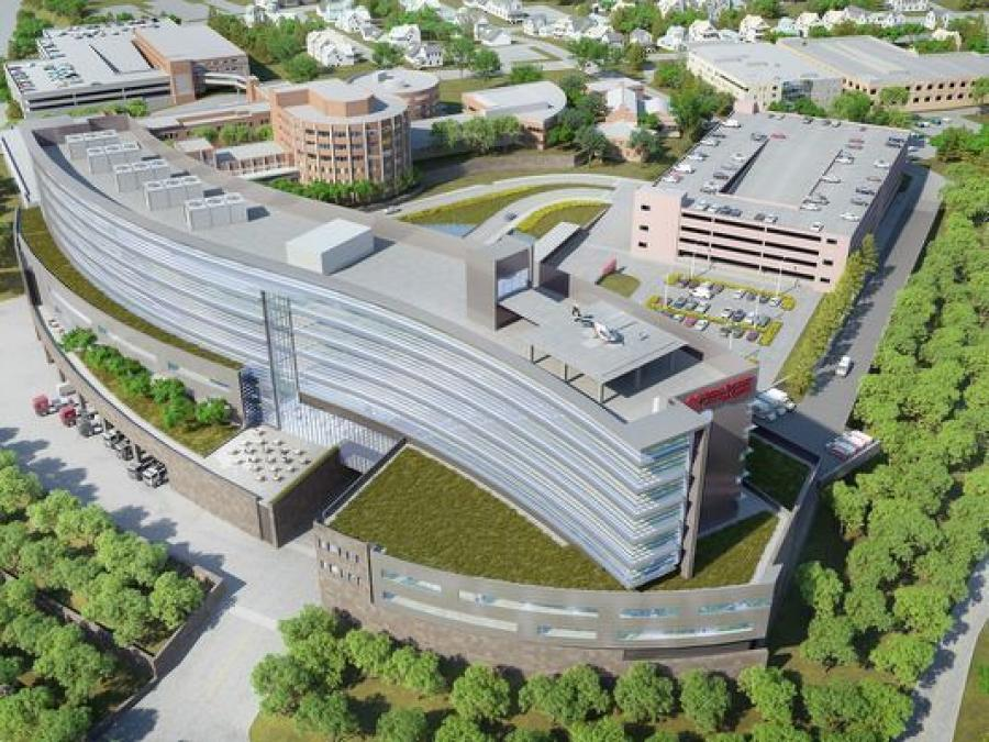 A rendering of the $500 million expansion of Vassar Brothers Medical Center.