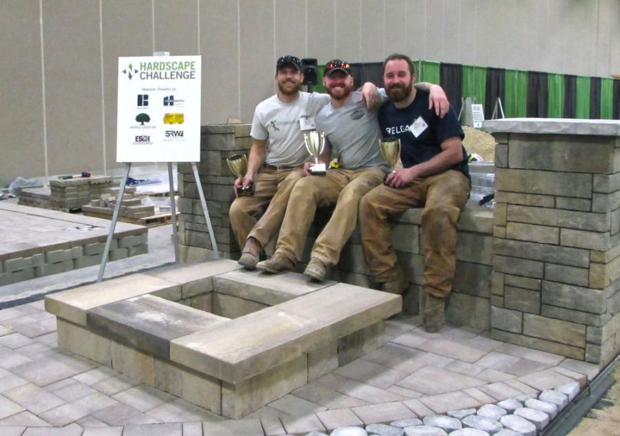 "Northern Green announced that the team assembled by J Kendall Hardscape LLC and Stone Craft LLC of Webster, Minn.,  called ""Rocks in the Screed"" won the second annual Hardscape Challenge at the Minneapolis Convention Center."