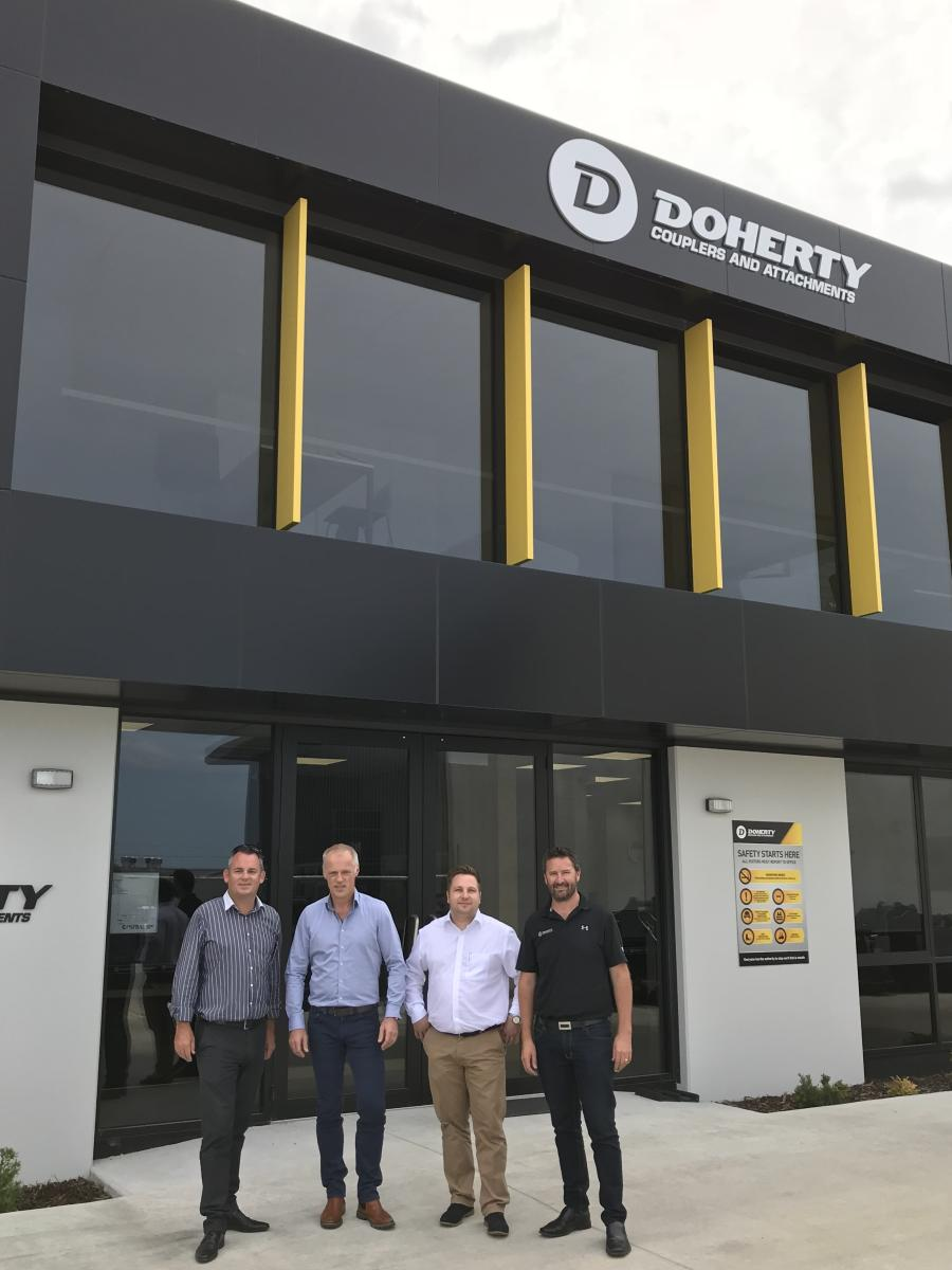Kinshofer, one of the world's leading sources of high-quality excavator and loader crane attachments, announces the acquisition of Doherty Group, a New Zealand-based excavator attachment manufacturer. (Photo Courtesy of Kinshofer)