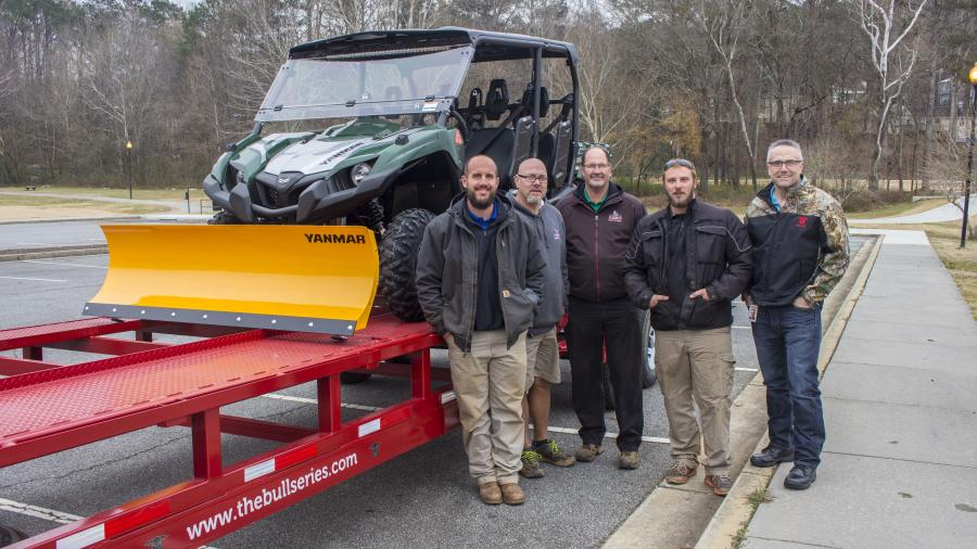 Jason Fitch, Yanmar America UTV division manager (R) with members of city of Acworth Parks and Recreation Department.