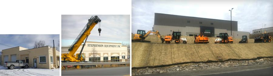 From left to right you see Stephenson Equipment's progression of expansion. The first photo is the original building they occupied in 2005 on route 315, the middle photo is the facility they operated out of on Armstrong Road from 2007 to 2017, and on the right is their new facility at 600 Sathers Drive. All three locations are only a few miles away from each other in Pittston, PA just off exit 175 or 178 of Interstate 81.