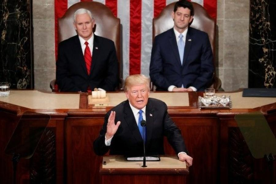 In his remarks, Trump focused on two key infrastructure areas—rebuilding and speeding up the process for obtaining permits, The Hill reported.