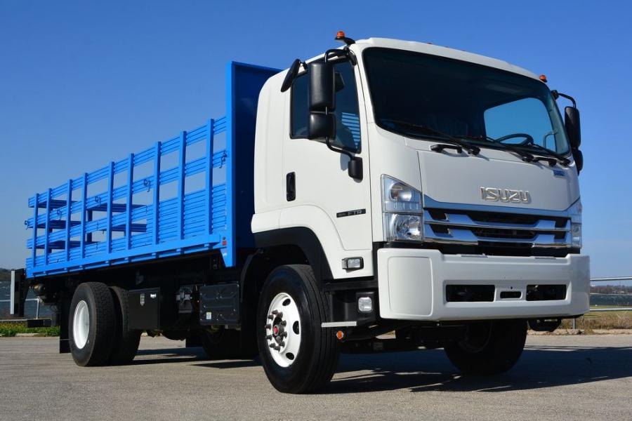 The Ewing trucks feature the all-new Class 6 Isuzu FTR chassis released earlier this year. The FTR offers a gross vehicle weight rating of 25,950 lbs. (11,770 kg), low-cab-forward design for increased maneuverability, and an environmentally-friendly, fuel-efficient, four-cylinder diesel engine with a B10 durability rating of 375,000 mi.