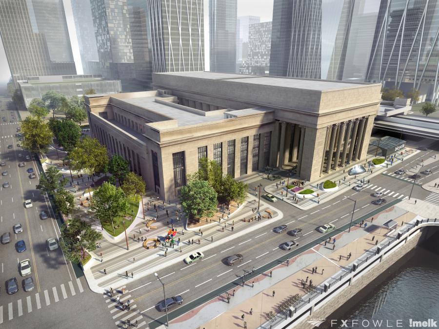 Amtrak, Brandywine Realty Trust, Drexel and SEPTA joined forces to establish a joint $10 billion plan for Philadelphia's 30th Street Station. (Amtrak, FX Fowle, melk photo)