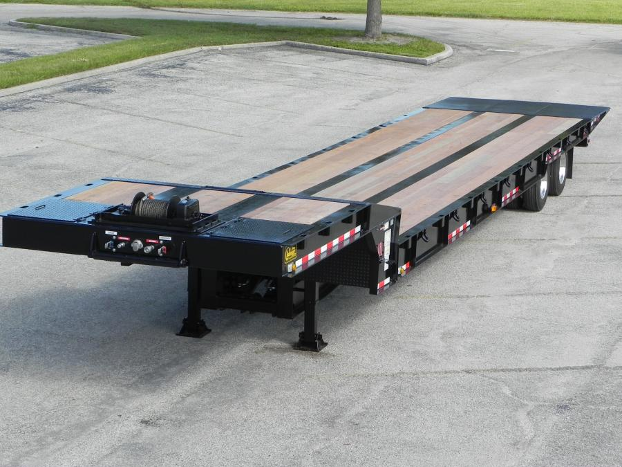 Witzco Challenger Trailers's SA 35 hydraulic sliding axle trailer features a 35 ton (31.7 t) capacity, 48 ft. (14.6 m) length, 36 in. (91 cm) deck height and a tandem axle.