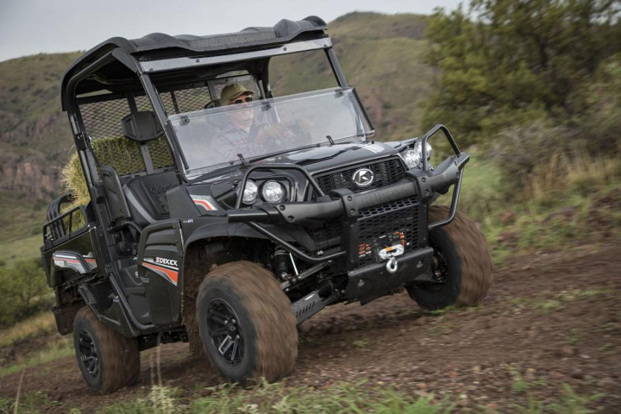 Kubota debuts the newest addition to its RTV family arriving this spring, the all-new, gas-powered RTV-XG850 Sidekick, the company's fastest utility vehicle yet.