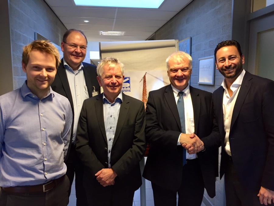 (L to R) Jan Sarens, Thomas Schramm, Marc Sarens, Ludo Sarens, Steve Filipov