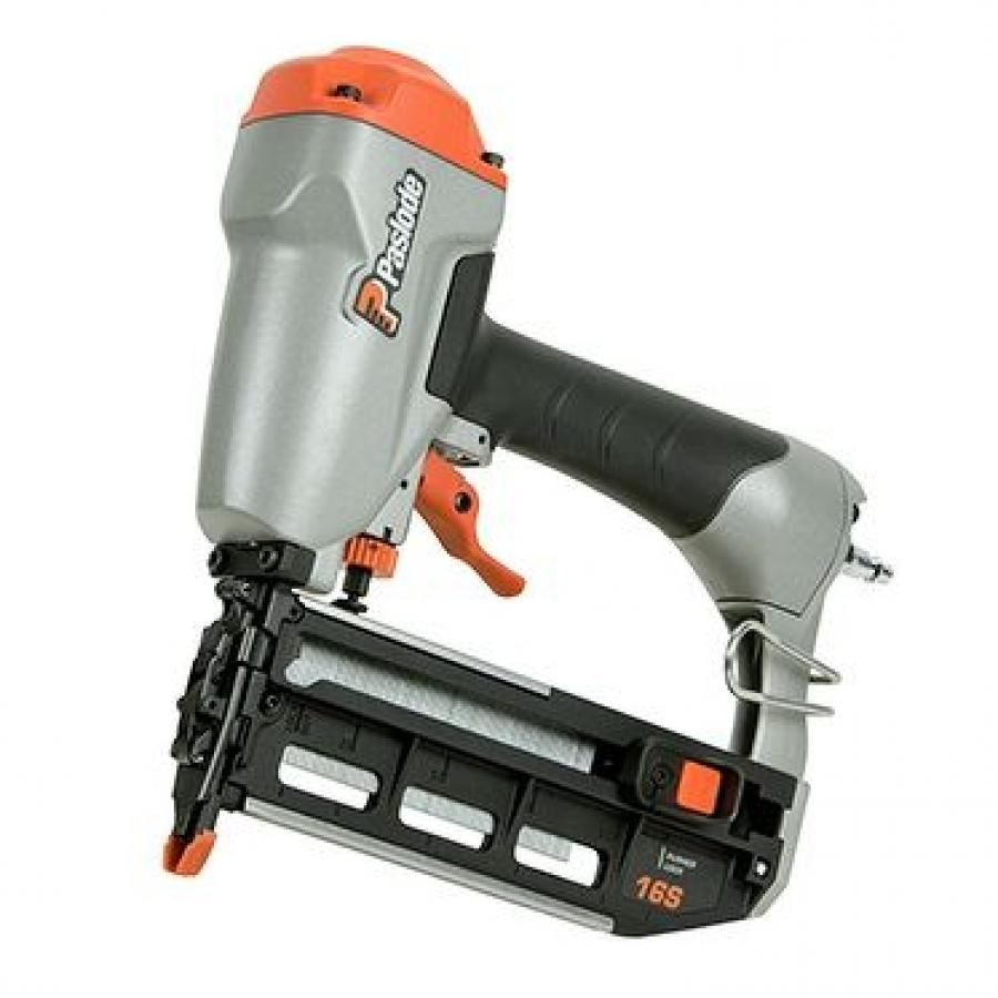 The Paslode 16-Gauge Straight Pneumatic Finish Nailer's oil-free design allows for a long-term and maintenance-free operation, reducing cleanup time and associated costs.