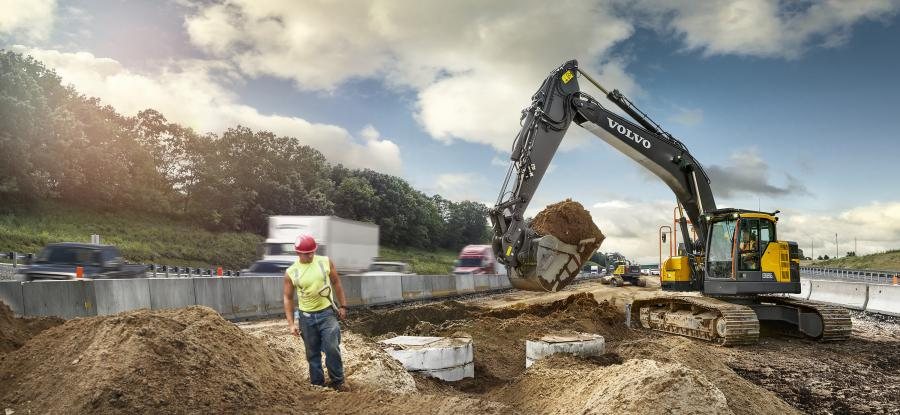 The newest addition to the Volvo E-Series excavator lineup from Volvo Construction Equipment offers a 10 percent increase in fuel efficiency over its predecessor model and increased digging and lifting forces for high productivity and performance.