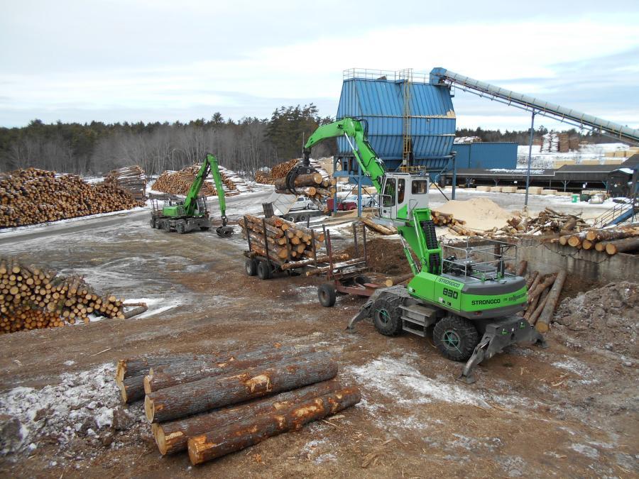 Sennebogen Removes Wood-Handling Bottleneck for Harry