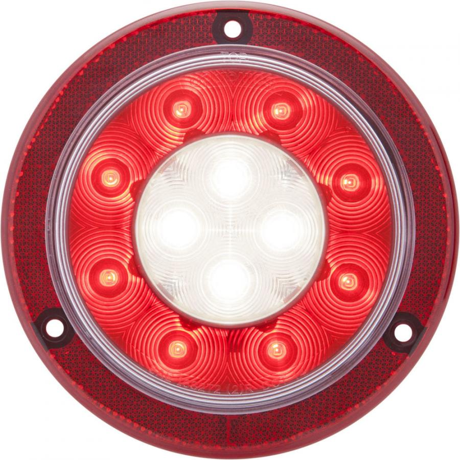 One of the most unique features of both lamps is a high-visibility reflective mounting flange. Like other vehicle conspicuity devices, the flanges help others on the road detect the presence, size and shape of a vehicle whether its lamps are operating or not.
