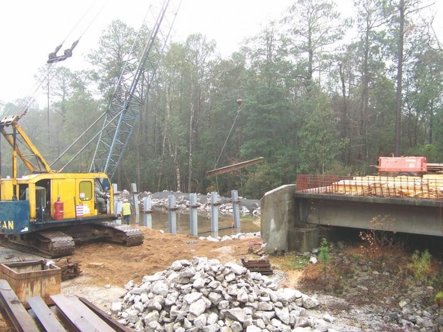 After almost a decade of inactivity, construction of the U.S.-98 and SR-158 extension projects in Mobile County, Ala., has resumed, beginning with work on the Big Creek Bridge.