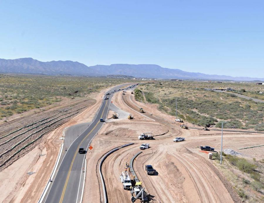 The project will transform SR 260 into a continuous four-lane divided highway between Camp Verde and Cottonwood.