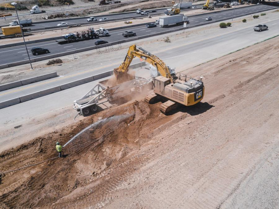 Work is currently under way in all but one section of the 22-mi. corridor.
