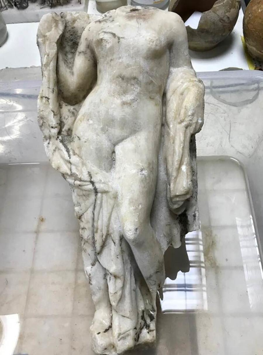 Workers found a headless statue of Aphrodite, the Greek goddess of love, beauty and desire, near the Hagia Sophia, a Byzantine-era church within the city, Newsweek reported.