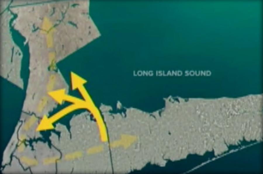 A study conducted for the DOT said the idea for a tunnel connecting New York's Westchester and Long Island shores or linking New York to Connecticut is feasible but would be costly.