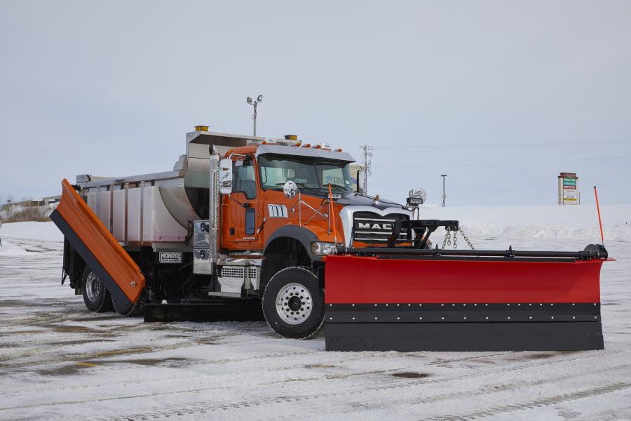 The Mack Granite Axle Forward model features increased ground clearance for underbody scrapers, making it ideal for snow removal.