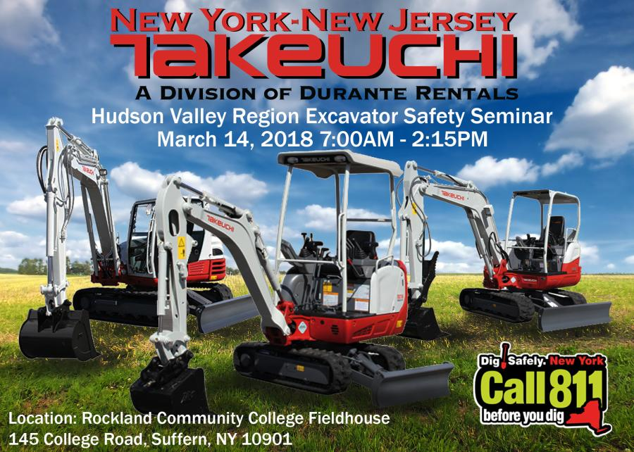 The free event, hosted by Dig Safely New York, is taking place on Wed., March 14th, from 7:00 a.m. to  2:15 p.m., at the Rockland Community College Fieldhouse in Suffern, NY.