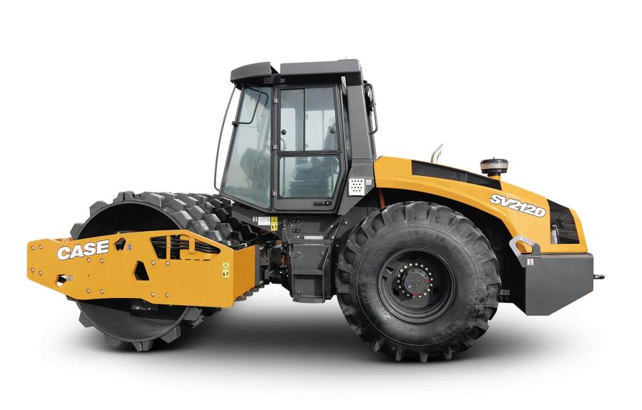 Case Construction Equipment introduced the new SV212D and SV216D single drum vibratory compactors — compatible with both smooth and padfoot drums.