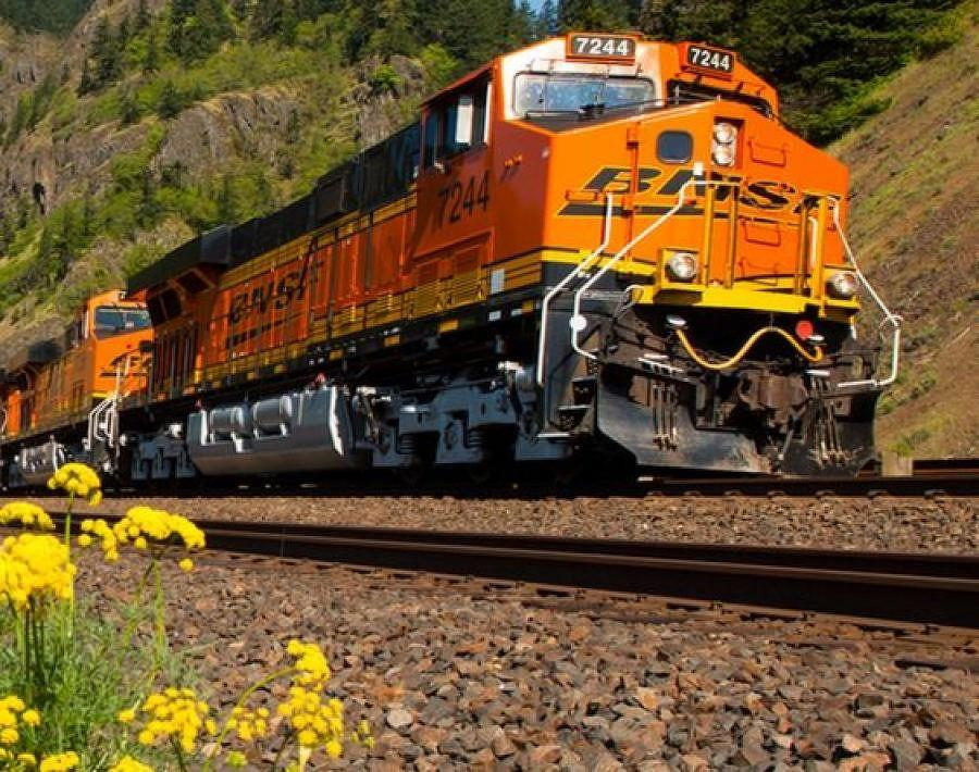 BNSF Railway is making plans to install a second track from Hauser, Idaho, to the Spokane Valley. (BNSF Railway photo)