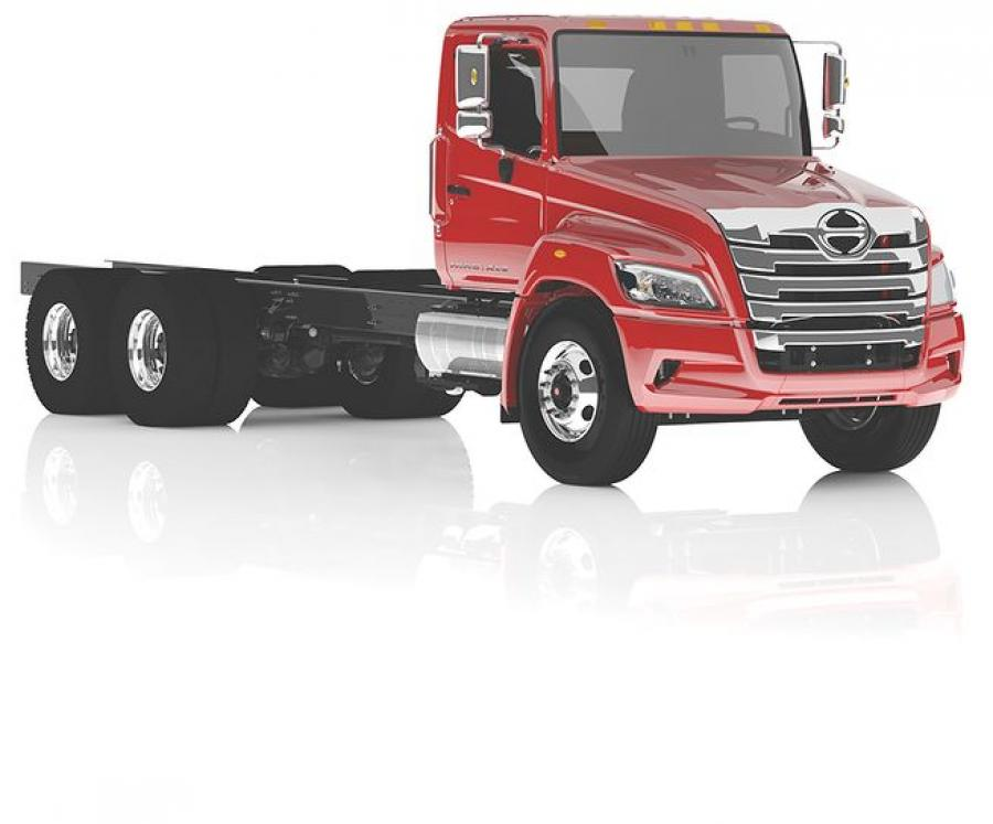 Caption: Hino XL Series Straight Truck (6x4).
